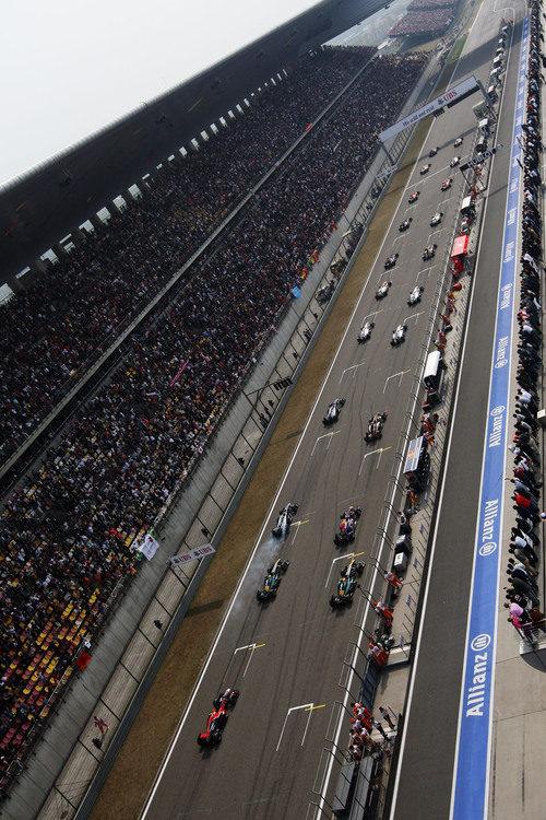 Parrilla de salida del GP de China 2011
