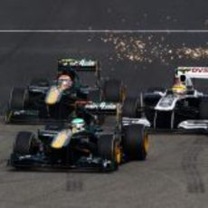 Saltan chispas entre Williams y Team Lotus