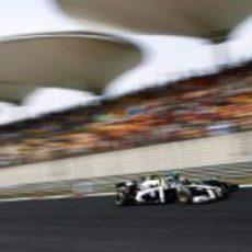 Maldonado luchando con un Lotus