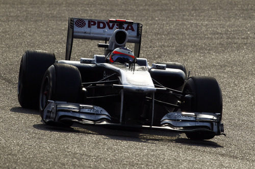 Barrichello durante el GP de China 2011