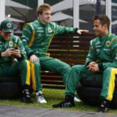 Razia, Valsecchi y Teixeira, pilotos probadores del Team Lotus