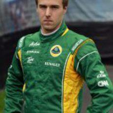 Davide Valsecchi, piloto probador del Team Lotus en 2011