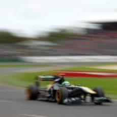 Heikki Kovalainen en la clasificación del GP de Australia 2011