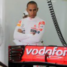 Lewis Hamilton en el GP de Malasia 2011