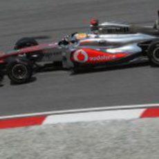 Hamilton en los libres del GP de Malasia 2011