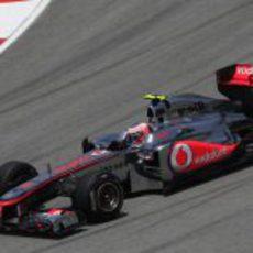 Button en los libres del GP de Malasia 2011