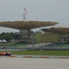 Massa en los entrenamientos del GP de Malasia 2011