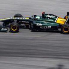 Kovalainen en los libres del GP de Malasia 2011