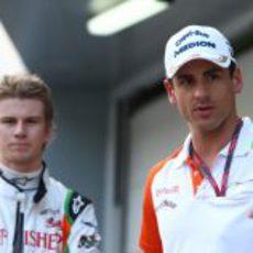 Sutil y Hülkenberg en el GP de Malasia 2011