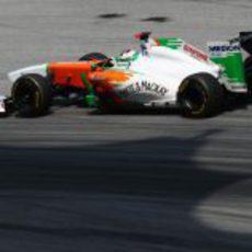Adrian Sutil en los libres del GP de Malasia 2011