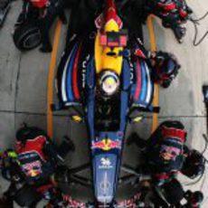 'Pit stop' de Vettel en el GP de China 2011