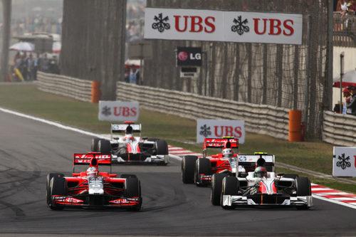 Liuzzi se saltó la salida del GP de China 2011