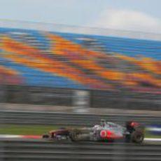 Button rueda en los libres del GP de Turquía 2011