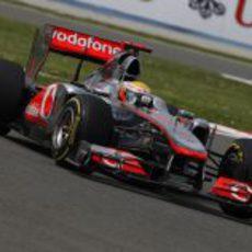 Hamilton en los entrenamientos del GP de Turquía 2011