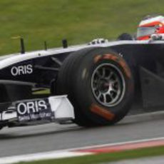 Rubens Barrichello en los libres del GP de Turquía 2011