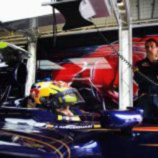 Alguersuari en el cockpit