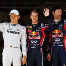 Los dos Red Bull en primera línea y Rosberg detrás en el GP de Turquía 2011