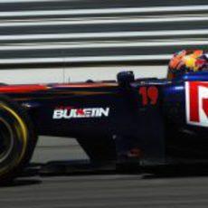 Alguersuari durante la clasificación del GP de Turquía 2011