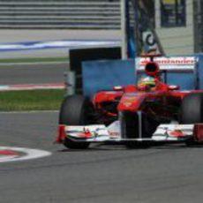 Fernando Alonso en la clasificación del GP de Turquía 2011
