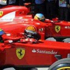 Massa y Alonso tras la clasificación del GP de Turquía 2011