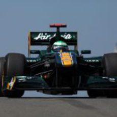 Heikki Kovalainen rodando en Istanbul Park