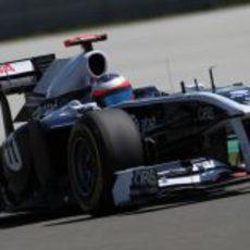 Barrichello durante la clasificación del GP de Turquía 2011