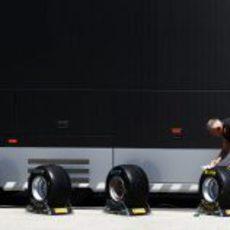 Los cuatro compuestos de neumáticos de Pirelli en Turquía 2011