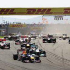 Salida del GP de Turquía 2011