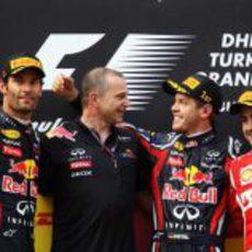 El podio del GP de Turquía 2011
