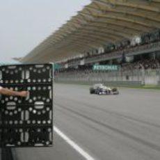 Pizarra de tiempos para Kobayashi en Malasia 2011