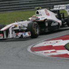 Pérez en la clasificación del GP de Malasia 2011