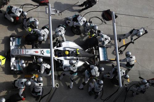 Parada en boxes para Nico Rosberg en el GP de Turquía 2011