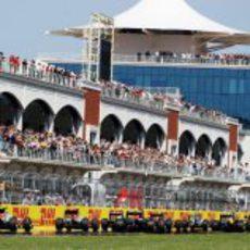 La parrilla de salida del GP de Turquía 2011