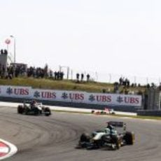 Kovalainen durante la carrera del GP de Turquía 2011