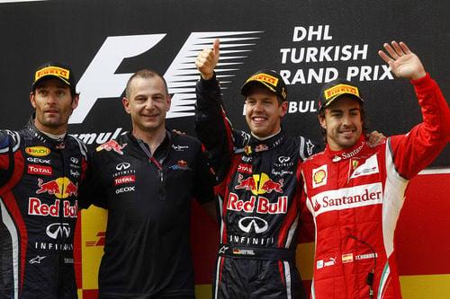 El podio final del GP de Turquía 2011