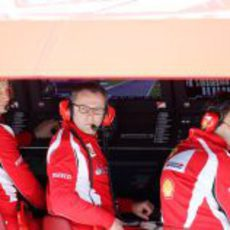 El muro de Ferrari en el GP de Turquía 2011