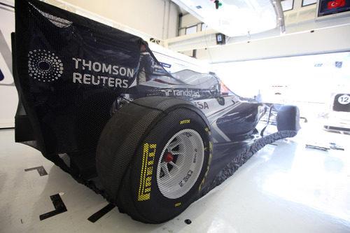 El Williams FW33 guardado justo antes de la carrera