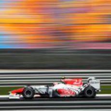 Liuzzi en pista este sábado en el GP de Turquía 2011