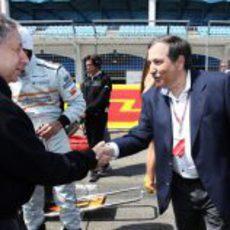 Saludo entre presidentes en el GP de Turquía 2011
