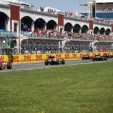 Parte de atrás de la parrilla de salida del GP de Turquía 2011