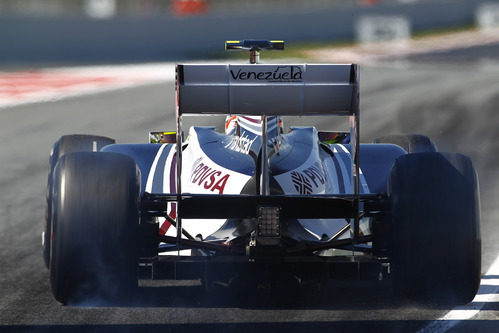 Vista trasera del Williams de Maldonado