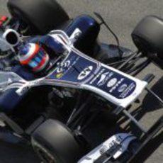Barrichello durante la sesión de prácticas del GP de España 2011