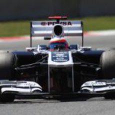 Vista frontal del Williams de Barrichello