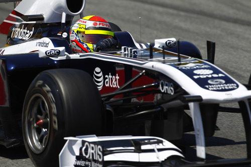 Pastor Maldonado durante la FP2 del GP de España 2011