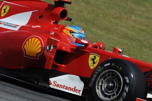 Fernando Alonso en la clasificación del GP de España 2011