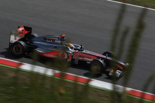 Lewis Hamilton en los libres 3 del GP de España 2011
