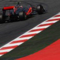 Jenson Button en los libres 3 del GP de España 2011