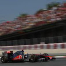 Hamilton en la clasificación del GP de España 2011