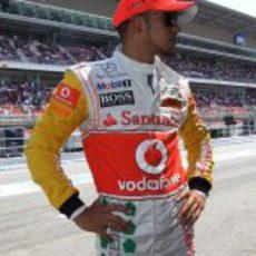 """El """"espectacular"""" mono de Lewis Hamilton en el GP de España 2011"""