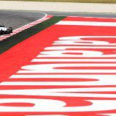 Paul di Resta en el Circuit de Catalunya